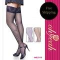 2113 Топ продаж супер deal черные чулки 2016 Ohyeah марка сексуальные женщины чулки цветок кружева черный за kneelong чулки