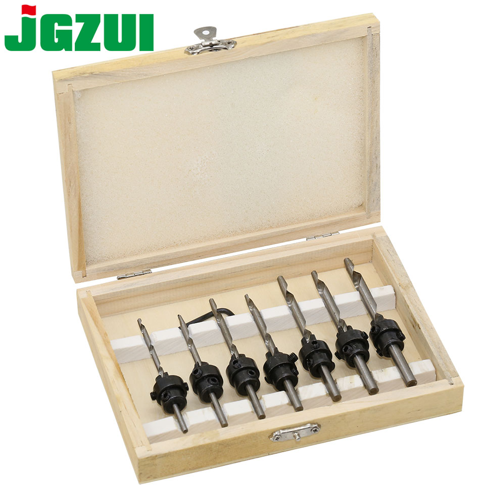 7pcs Countersink Drill Woodworking Drill Bit Set Drilling Pilot Holes For Screw Sizes3-6