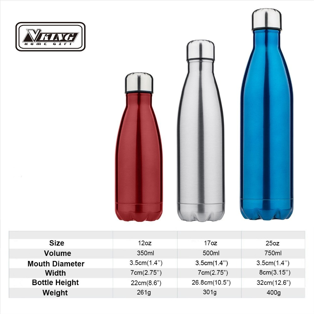 146aa2cd87 12oz/17oz/25oz 5 color Stainless Steel Thermos Water Bottle Vacuum  Insulated Sports Water Bottle for Camping Running Traveling -in Water  Bottles from Home ...