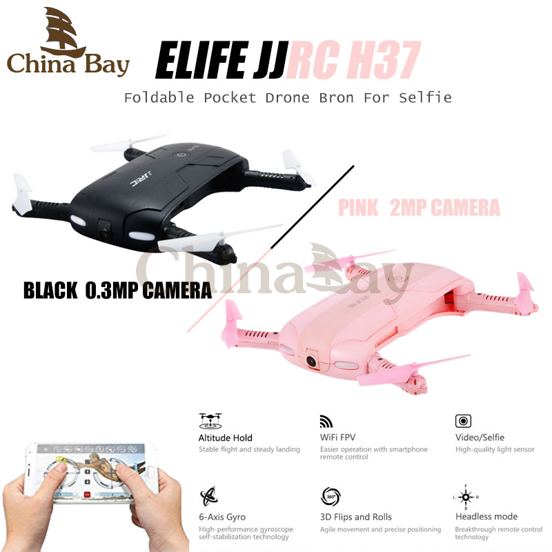 Newest JJRC H37 Elfie foldable Mini Selfie Drone With Camera Altitude Hold FPV Quadcopter WiFi Phone