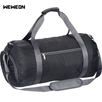 Gym Bag Sports Duffle Bag for Men and Women Foldable Nylon Waterproof Training Fitness Workout Yoga Bag
