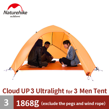 Naturehike Tent Camping Tent Ultralight 1 2 3 Person Man 4 Season Double Layers Aluminum Rod Outdoor Travel Beach Tent With Mat 2