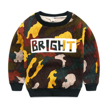 Boy's camouflage fleece baby clothes fall 2016 new ling qiu dong's baby coat round collar render unlined upper garment of
