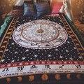 Новый Винтажный Индийский Мандала гобелен хиппи украшение на стену Йога пляжное полотенце солнцезащитный блок темное Созвездие шаль и дли...