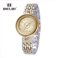 Belbi Топ Элитный бренд Для женщин Наручные часы Японский кварцевый часовой моды Дизайн циферблат ретро дамы часы для женщин подарок