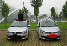 DIY wedding car decoration marriage boda accessories deco party supplies for bride and groom free shipping 2017 new design