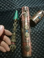 xiangmo chu Nepal hand inlaid Buddhist supplies Tibet feng shui ornaments And copper box