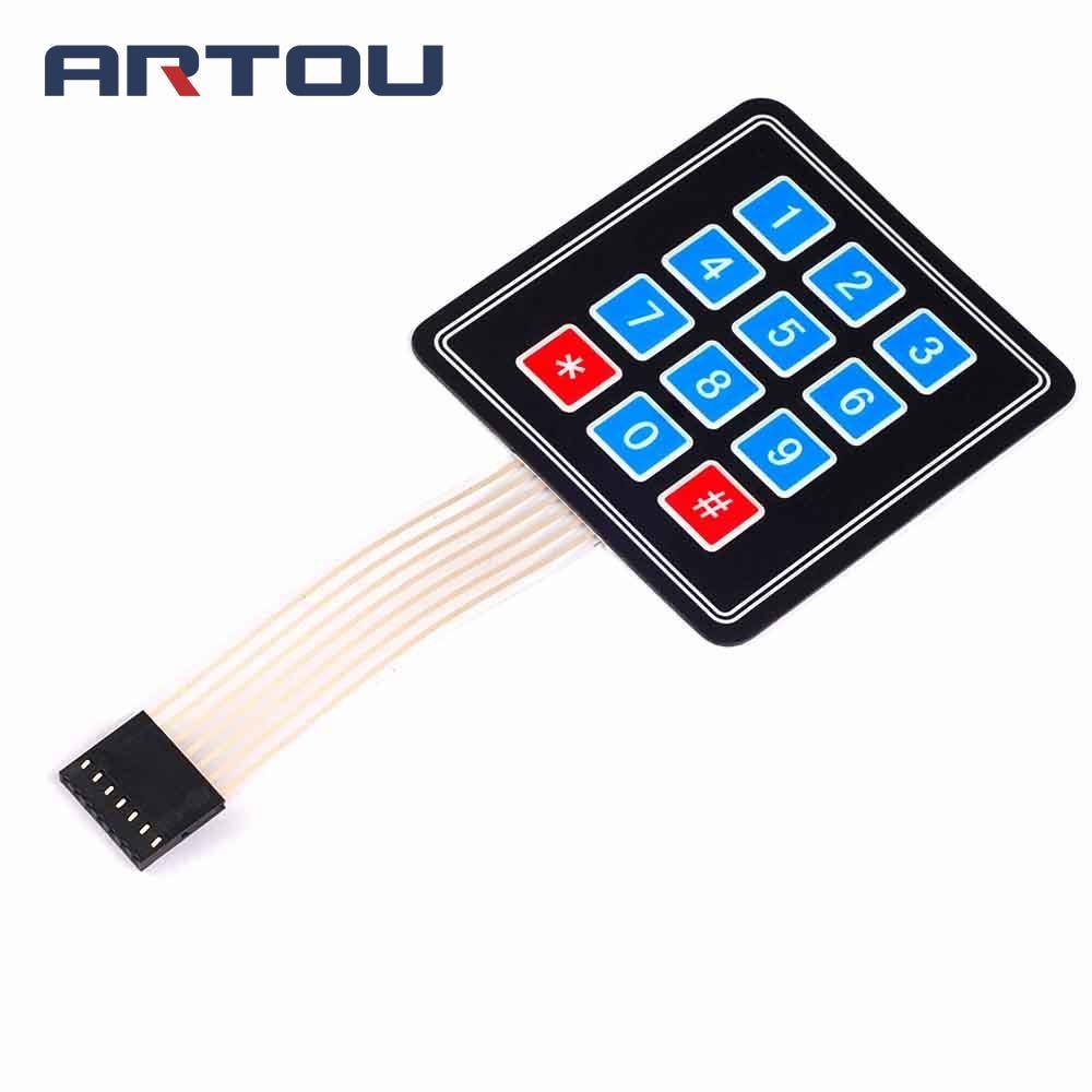1PCS 4*3 Matrix Array 12 Key Membrane Switch Keypad Keyboard AVR PI C