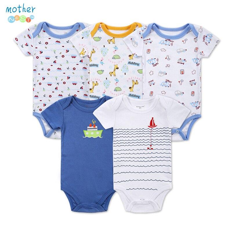 2a28e23bc64e8 5 pièces lot bébé Body nouveau né bébé imprimé Body Cartes similaires bébé  fille vêtements à manches courtes Body suit vêtements pour bébés dans ...