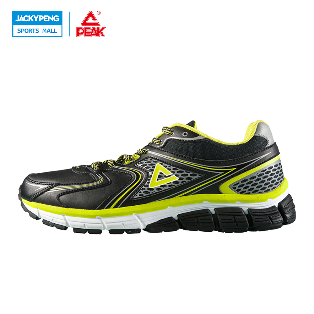 ФОТО PEAK Men's Flex Running Shoes Rhythm Sneakers Breathable Mesh Athletic Outdoor Chusion Shoe Running Travel Sneakers