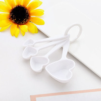 Free shipping 50 set/200pcs Love Beyond Measure Heart shaped Measuring Spoons+wedding favors gifts