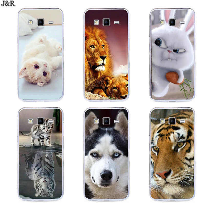 For Samsung Galaxy Ace 4 Neo G318H SM-G318H Ace4 Lite G313 G313H SM-G313H Cover Silicone Cartoon Painting Animal Style Cases