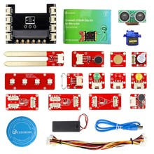 Elecrow Crowtail Steam Educational Starter Kit for Micro:bit Learning Programming Kit Microbit Makecode Projects with 9G Servo цена