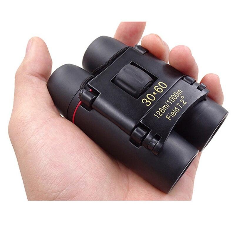 Profissional Dobrável 30X60 Zoom Binóculos de Visão Noturna Dia de Alta Potência Binocular de Bolso Binóculos Monocular Para A Caça de Viagem