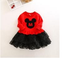 Girl S Christmas Princess Dresses Cotton 2017 Autumn Long Sleeve Minnie Mouse Kids Tutu CHildren S