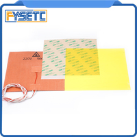 Polyetherimide Cold PEI Sheet 200*200*0.3mm Frosted Build Surface Yellow+ 200X200mm 220V 500W Silicone Heater Pad For Prusa i3