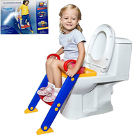 NEW Baby Potty Training Seat Children's Potty Baby Toilet Seat with Adjustable Ladder Infant Toilet Training Folding Seat