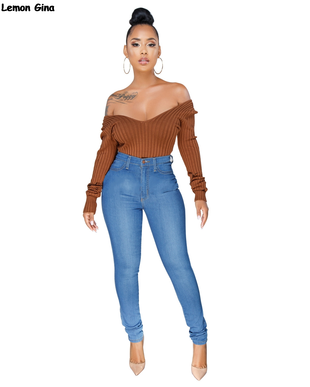 Women's Clothing Hearty New Winter Women Sexy Off Shoulder V-neck Knitted Skinny Bodycon Fashion Bodysuits Club Night Tops 4 Colors S-3xl Wy6502