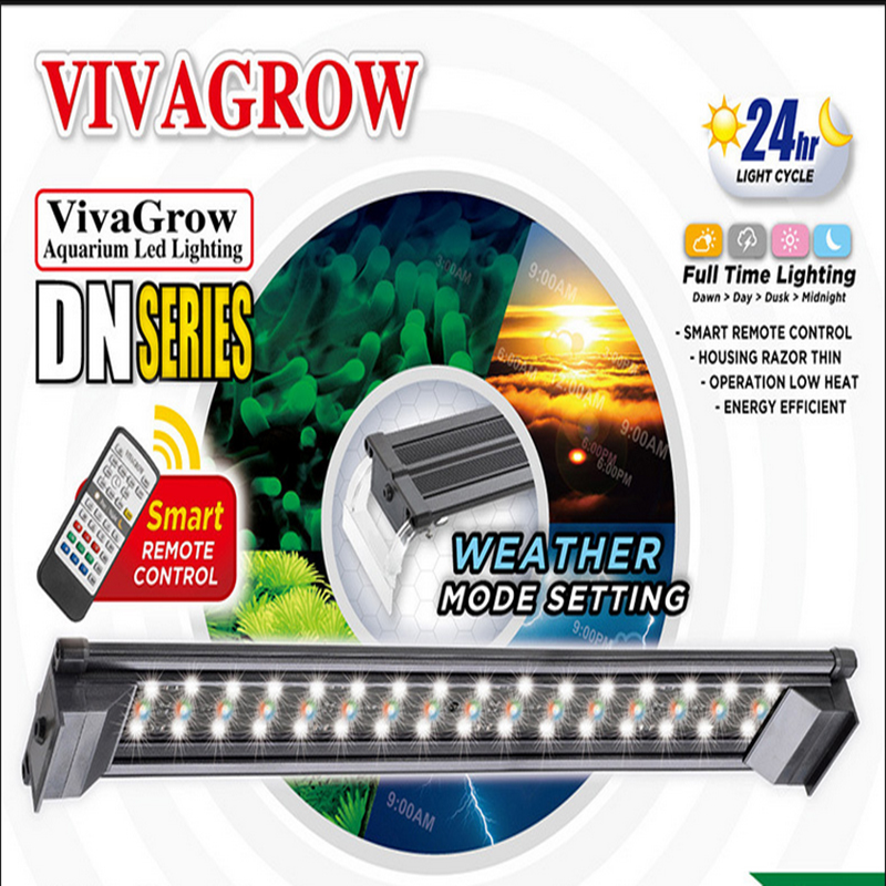 18 ODYSSEA VIVAGROW DN50 DayNight RGB LED Aquarium Lighting Fixture for Freshwater Plants Grow Light 24/7 Remote Automation