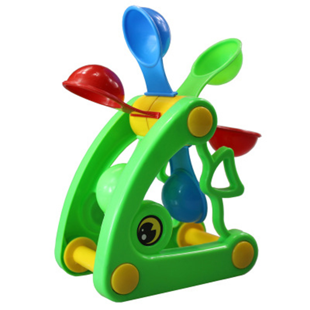 1Pc Multi-color Plastic Cartoon Windmill Waterwheel Beach Sand Toys Children Water Fun Spraying Beach Play Sand Toy