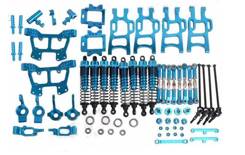 Upgrade Parts Package for HSP RC 1:10 Electric Nitro Off-Road Monster Truck Blue hsp 81003 aluminum shock absorber 2p for rc 1 8 nitro off road truck metal