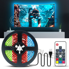 RGB Color Changeable TV Led Strip lights for 40-60 inch HDTV 6.6ft USB Powered 5V LED with RF Remote,TV Backlight Kit