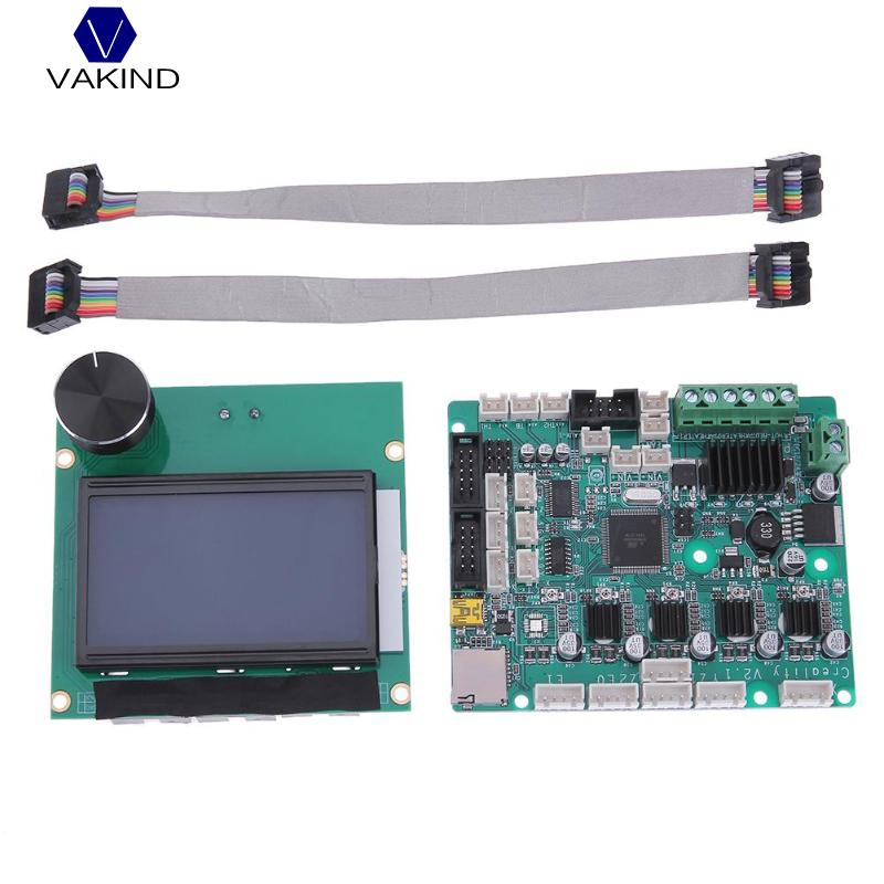 VAKIND Hot Sale 12864 LCD Display + Monitor Control Motherboard Screen Module For Creality CR-10 For 3D Printer Parts цена