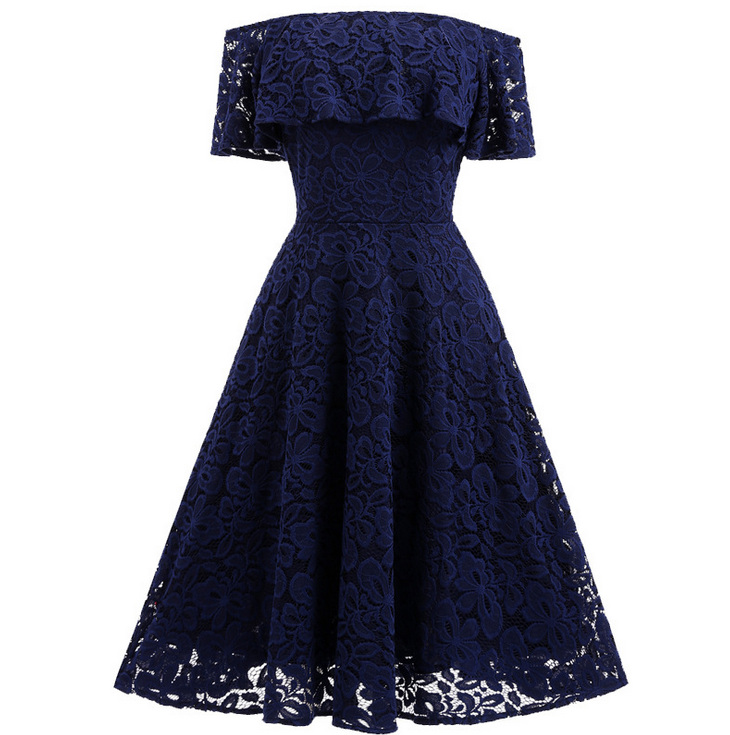 2017 summer new products womens wear lace large dress with a one-word maternity dress L133