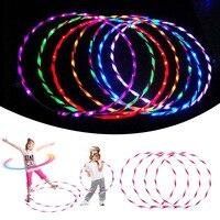 90 см светодиодный свечение обруч Для женщин Свободные Вес обруч детские спортивные освещения игрушки ребенка тренажеры