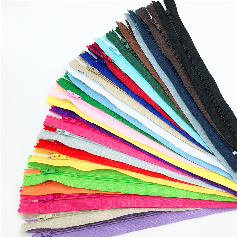 10pcs (8 Inch) 20CM 3# Closed End Nylon Coil Zippers Tailor Sewing Craft (Color U PICK)