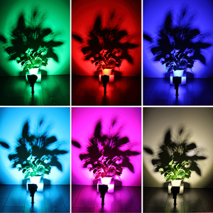 Image 5 - T SUNRISE 7 LED Solar Spotlight Auto Color Changing Outdoor Lighting Garden Solar Lamp Landscape Wall Light for Decoration