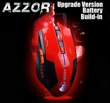 AZZOR Аккумуляторная Беспроводная Мышь Лазерная Игровая 2400 ТОЧЕК/ДЮЙМ 2.4 Г FPS Геймеров Молчание Литиевая Батарея Строить-в Высокой производительность