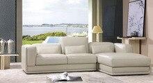 Sofá seccional moderno del estilo superior genuino cuero muebles de la sala 8243B