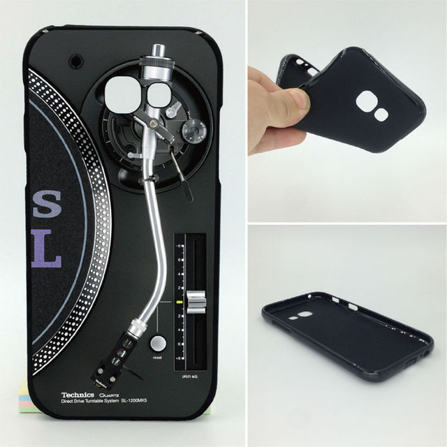vintage technics turntables dj phone cases soft tpu for samsung