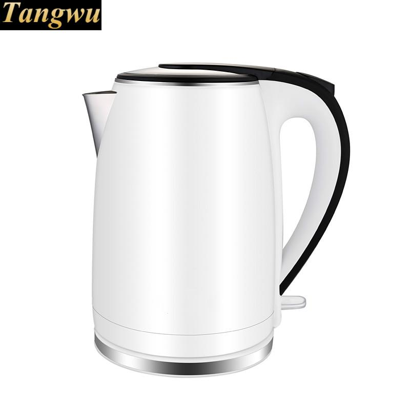 Electric kettle 304 stainless steel dormitory automatic power failure household quick kettles Overheat Protection free shipping electric kettle automatic power double layer heat insulation 304 stainless steel overheat protection