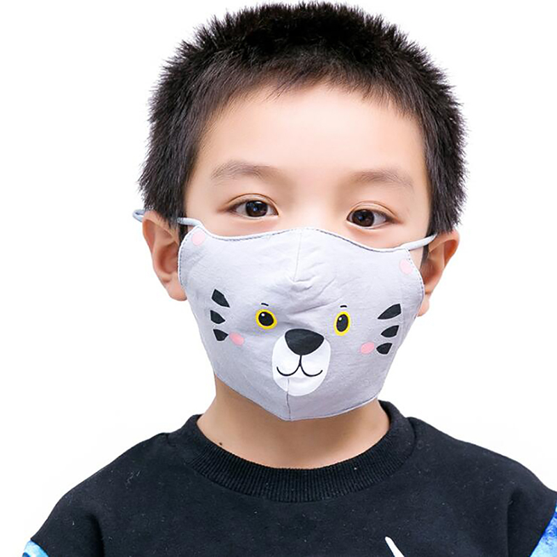 Cotton Cute Cartoon Animal Masks For Children Fashion Print Pattern Mask Riding Windproof Dust Mask Childs Care