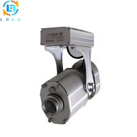 Advertising Silver 40W LED Gobo Projector Rustproof Not Waterproof 4500lm Rotary and Static Images Company Logo Image Projector