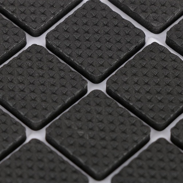 48 Pcs Non-slip Self Adhesive Furniture Rubber Table Chair Feet Pads Round Square Sofa Chair Leg Sticky Pad Floor Protectors Mat 4