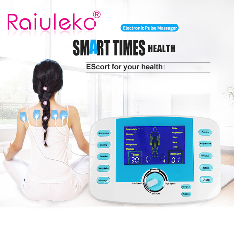 Household Dual Output Electronic Body Slimming Pulse Massage for Muscle Relax Pain Relief Massager TENS Unit Muscle Stimulator