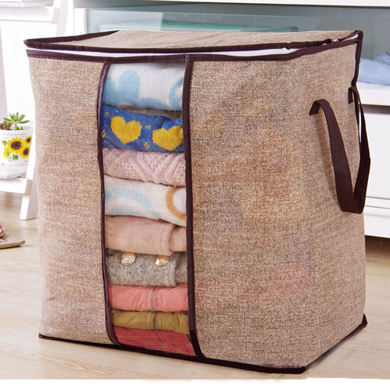 Non Woven Family Save Space Organizador Bed Under Closet Storage Box Clothes Divider Organiser Quilt Bag Holder Organizer in Storage Boxes Bins from Home Garden