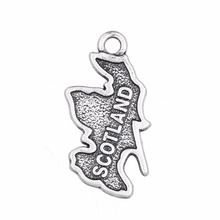 Minimal Retro SCOTLAND Metal Country Map Series Charms for Necklace/Bracelets Jewelry Making 20pcs/lot(China)