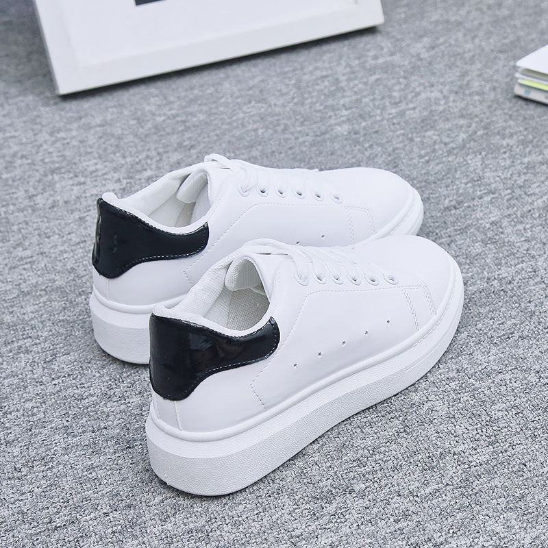 2019 Women Sneakers Fashion Breathble Mesh Women Running Sports Shoes Platform Lace Up Casual Shoes Woman White Tennis Feminino
