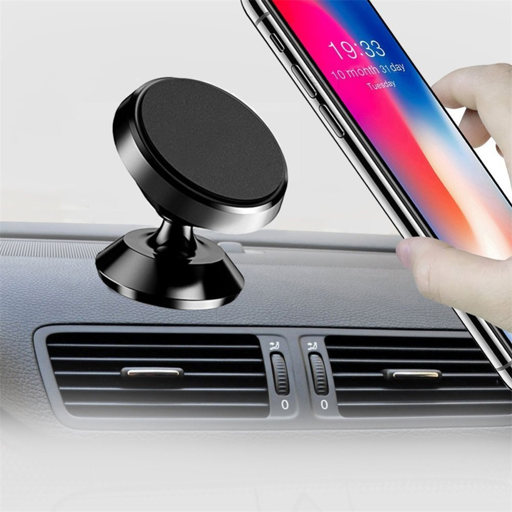 Magnetic Car Mount Holder 360 Rotation Smartphone Universal Dashboard Hands Cell Phone Stand for iPhone 7/8 Plus/X Samsung S8/S7