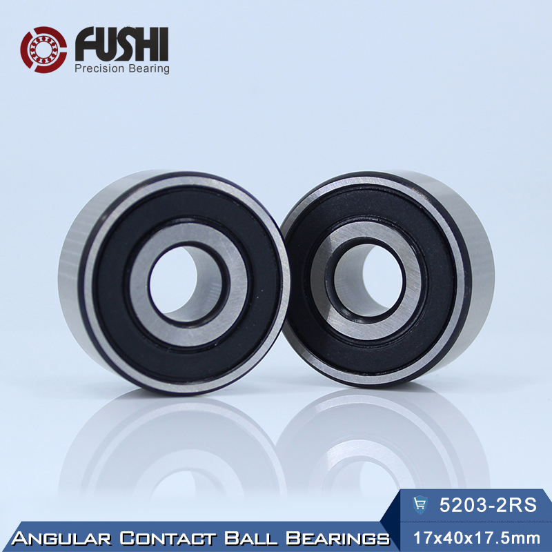 52032RS Bearing 17 x 40 x 17.5 mm Angular Contact Ball