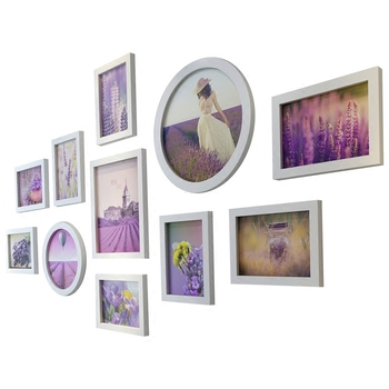 Photo Frames Set For Bedroom Decor Modern 11pcs/set Picture Frames Round Photo Frames Wall Hanging quadros de parede para sala
