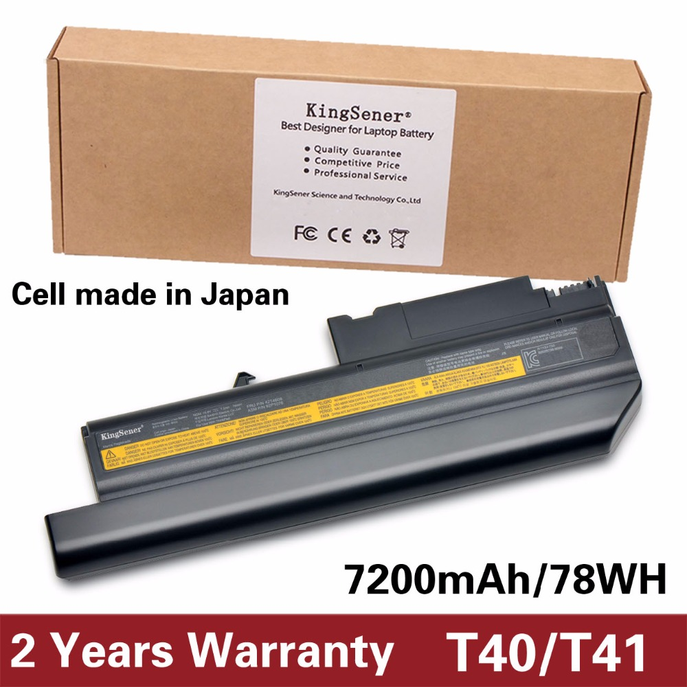 KingSener 10.8V 7200mAh New Battery for IBM ThinkPad R50 R50E R50P R51 R51P R52 R52P T40 T40P T41 T41P T42 T42P T43 T43P 42T4608KingSener 10.8V 7200mAh New Battery for IBM ThinkPad R50 R50E R50P R51 R51P R52 R52P T40 T40P T41 T41P T42 T42P T43 T43P 42T4608