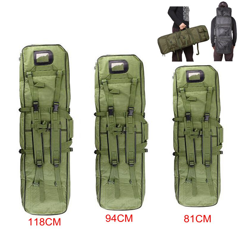 Airsoft Carbine Tactical Hunting Bag 81/94/118cm Paintball Military Shooting Gun Case Rifle Bag Hunting Carry Bag Rifle Backpack emerson 85cm tactical military paintball rifle carrying case bag nylon airsoft combat cs field dual gun bag for hunting sport