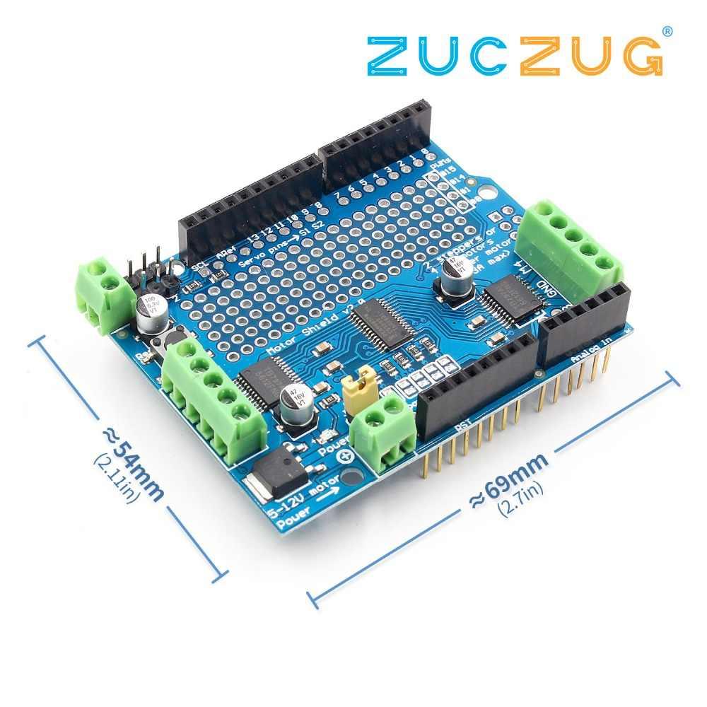 Standard IIC I2C TB6612 Mosfet Stepper Motor PCA9685 PWM Servo Driver  Shield V2 For Arduino Robot PWM Uno Mega R3 Replace L293D