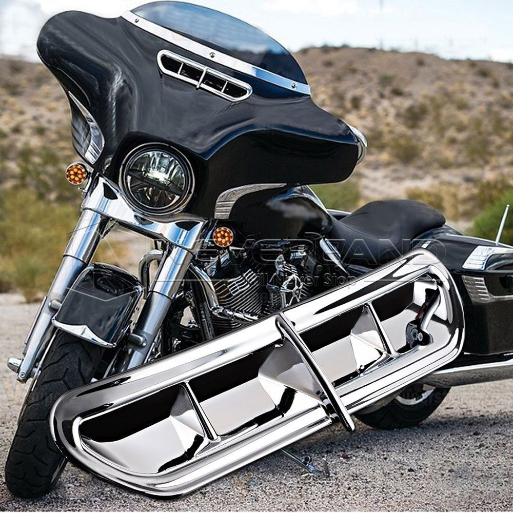 Neverland Chrome Batwing Motorcycle Fairing Vent Accent Cover For Harley Touring FL Trike 14-16 15 Plastic D35