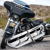 Neverland Chrome Batwing Motorcycle Fairing Vent Accent Cover For Harley Touring FL Trike 14 16 15